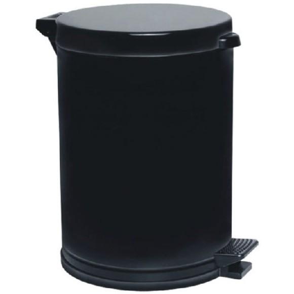 LIXEIRA 3576 PRETA PLAST 10,5LTS VIEL