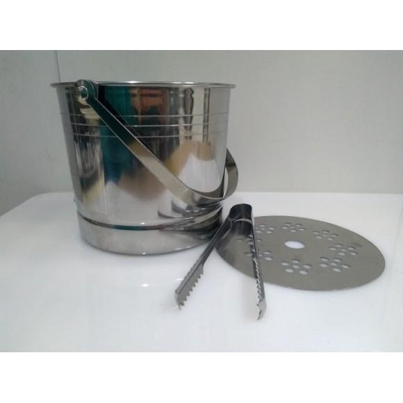 BALDE GELO INOX C/PEGADOR 1,5L 5101 KEHOME
