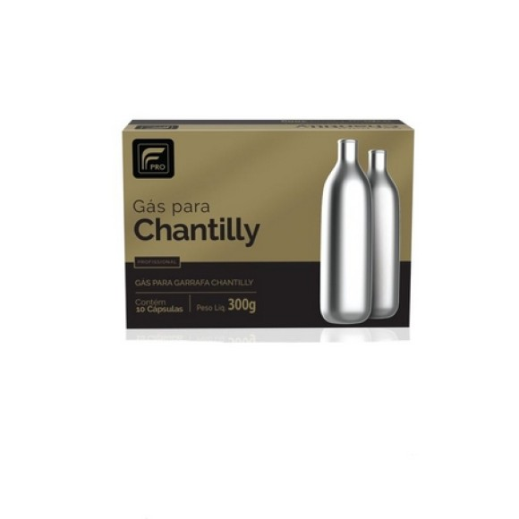 GAS PARA PREPARO DE CHANTILLY C/10 FP0054-99-50 FLAVOERS